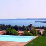 Villa Padenghe vista lago con piscina infinity e parco in vendita