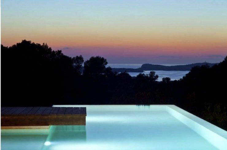 Ibiza villa affitto con piscina infinity e vista mare