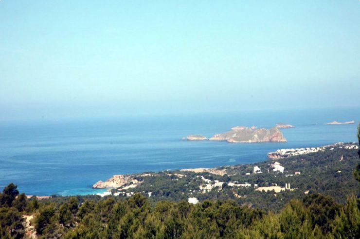 Villa Ibiza affitto vista mare con splendida piscina