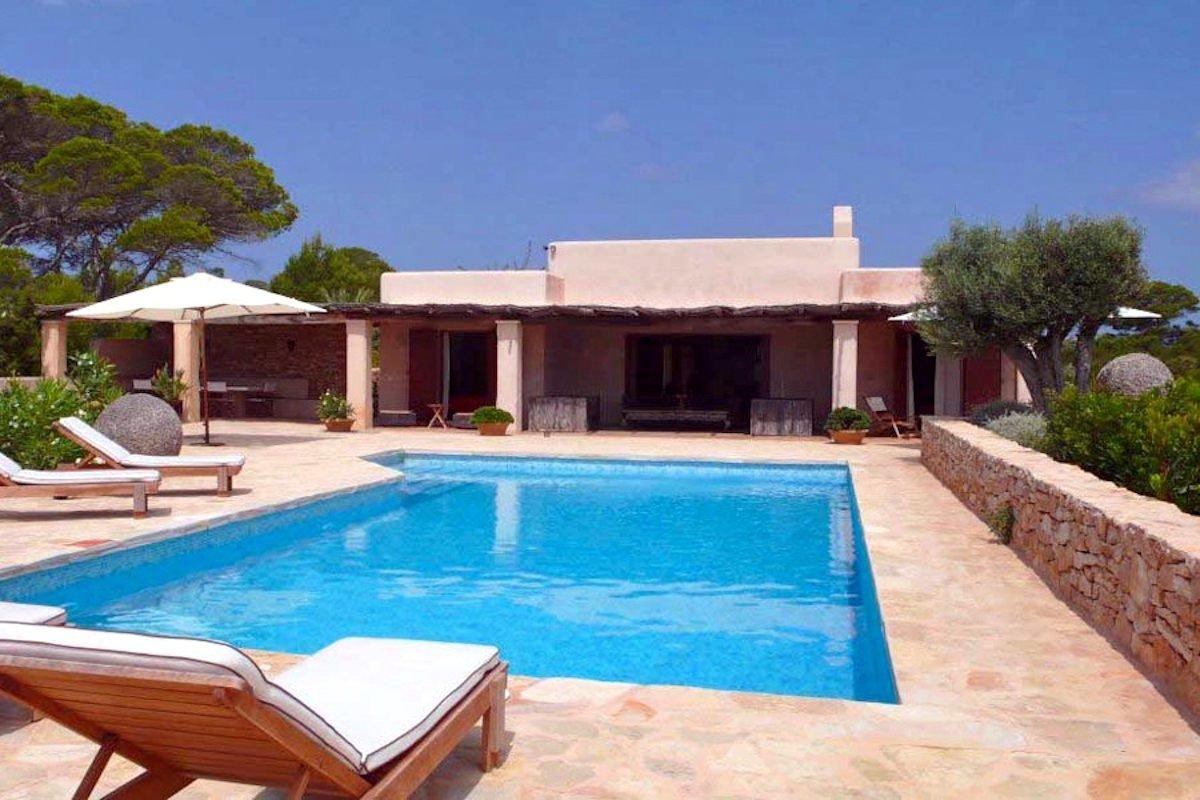 Villa affitto Formentera con piscina e vista mare