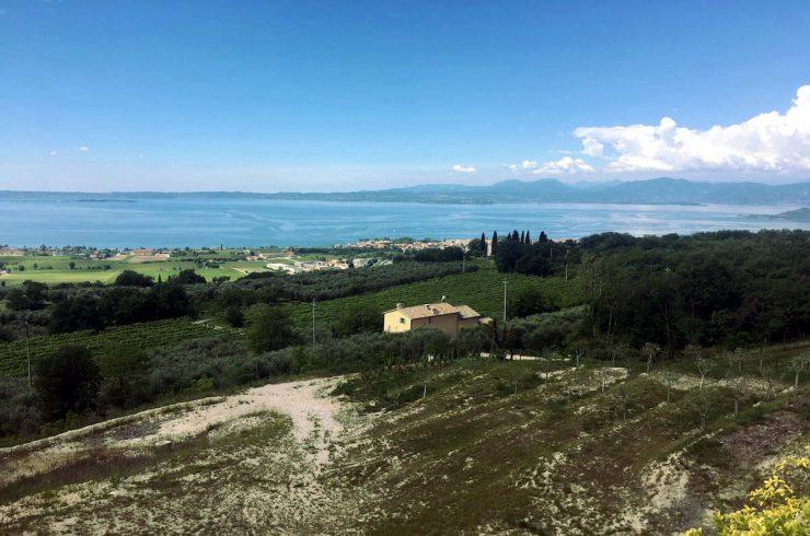 Terreno edificabile Lago Garda vista lago progetto approvato