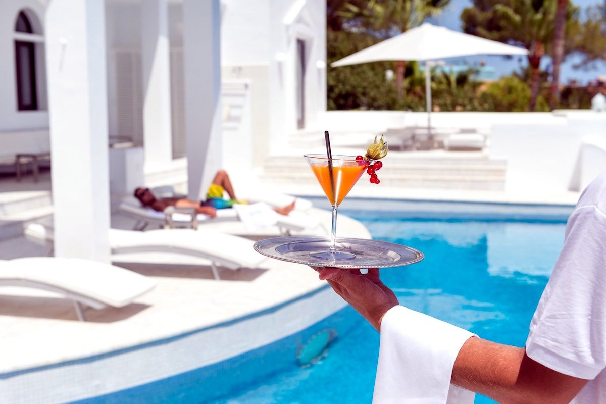 Villa lusso Ibiza affitto fronte mare