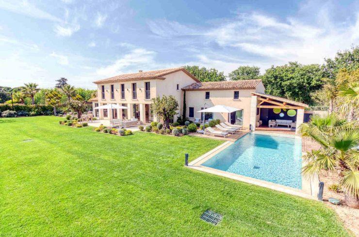 Villa Saint Tropez affitto con giardino tropicale
