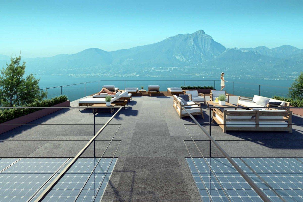 Nuova villa vendita a Torri del Benaco vista lago con piscina