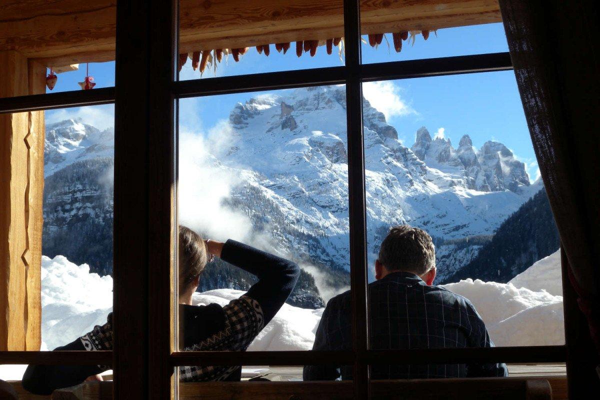 Chalet Madonna di Campiglio vista Dolomiti in affitto
