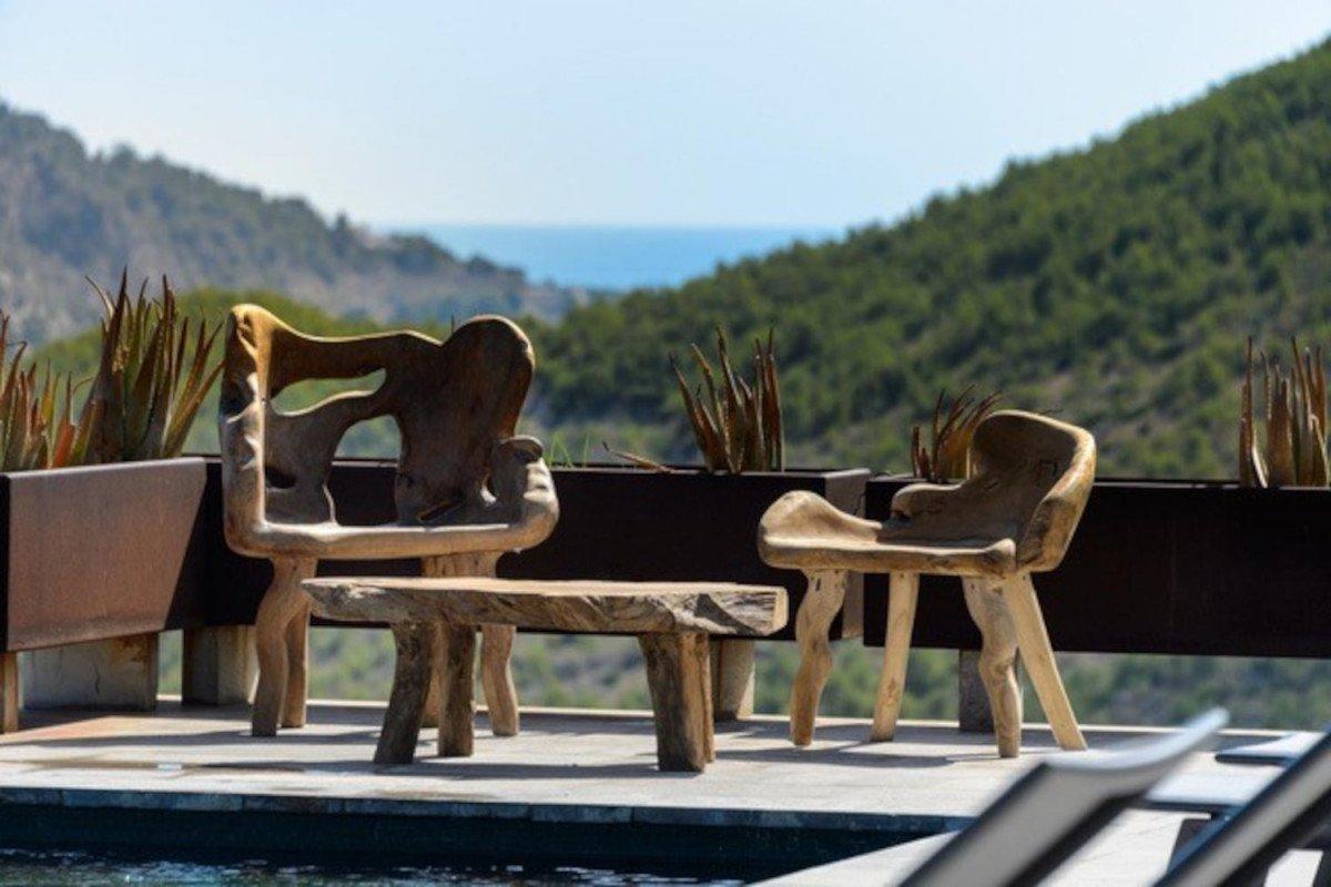 Villa Roca Llisa in affitto a Ibiza con piscina infinity